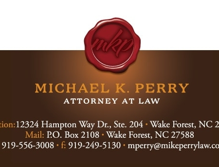 Michael Perry Attorney Law FirmBusiness Card Design