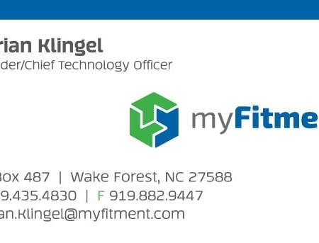 myFitment Automotive Business Card Design