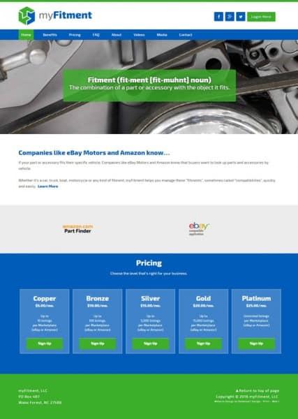 Myfitment Automotive Web Design