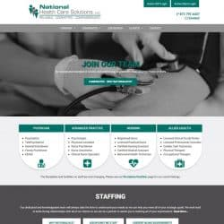 National Health Care Solutions Website Design & Development
