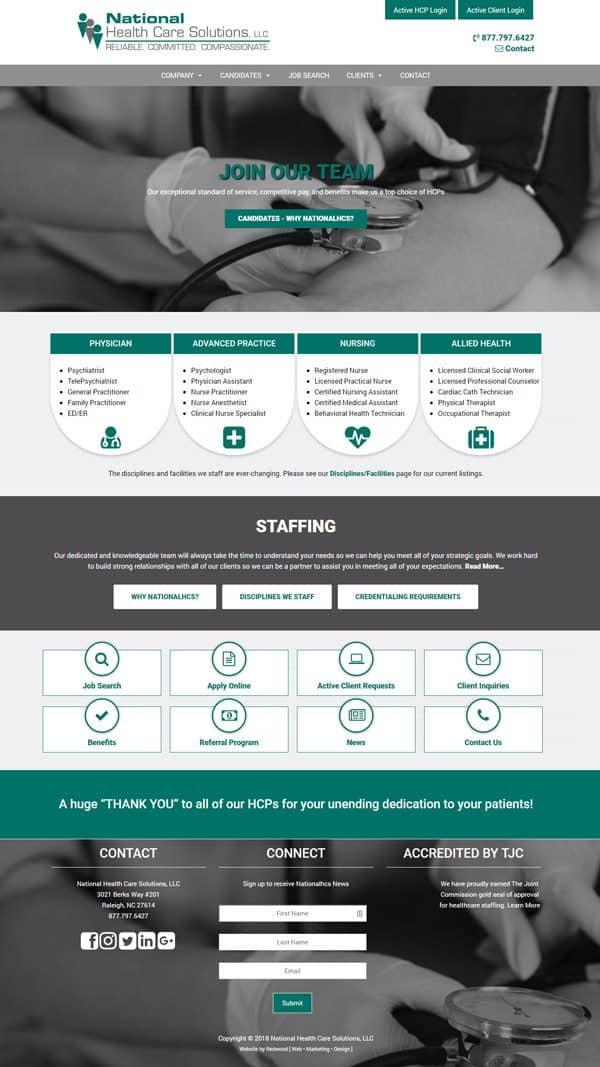 national_healthcare_solutions_website_design