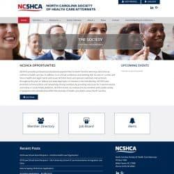North Carolina Society Of Health Care Attorneys Website Design
