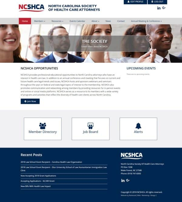North Carolina Society Of Health Care Attorneys Website Design