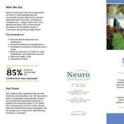 Neuro Community Care Health Care Brochure Design Outside