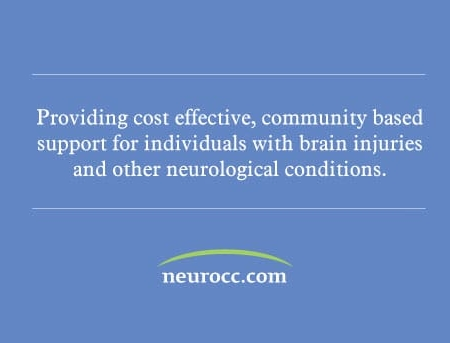 Neuro Community Care Health Care Business Card Design Backside