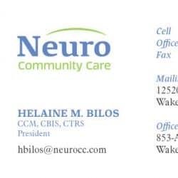 Neuro Community Care Business Card Design