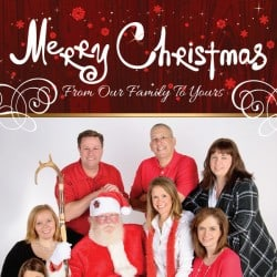Pate Realty Christmas Postcard Design