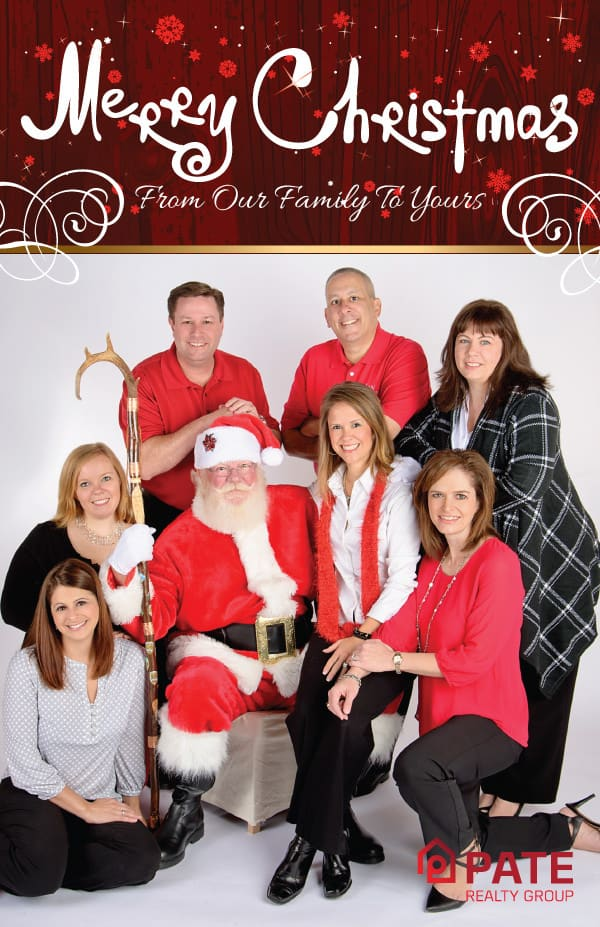 Pate Realty Real Estate Christmas Postcard Design Back