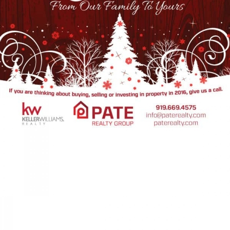 Pate Realty Real Estate Christmas Postcard Design Back