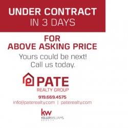 Pate Realty Real Estate Postcard Design Back