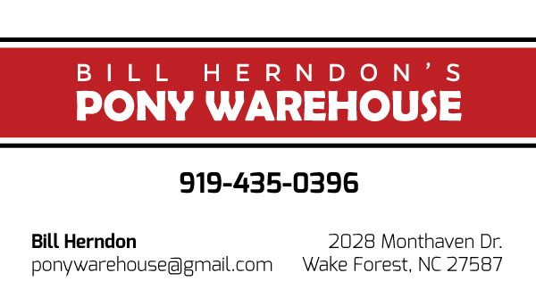 Pony Warehouse Automotive Business Card Design Front