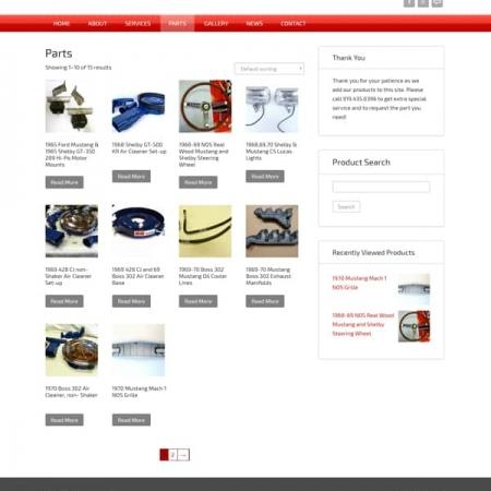Pony Warehouse Automotive Ecommerce Web Design