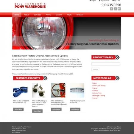 Pony Warehouse Automotive Web Design & Development