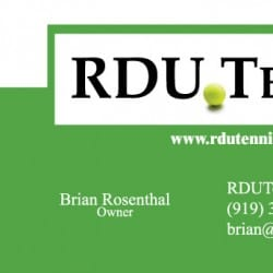 RDU Tennis Business Card Design