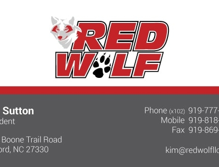 Red Wolf Business Card Design