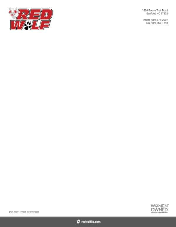 Red Wolf Letterhead Design