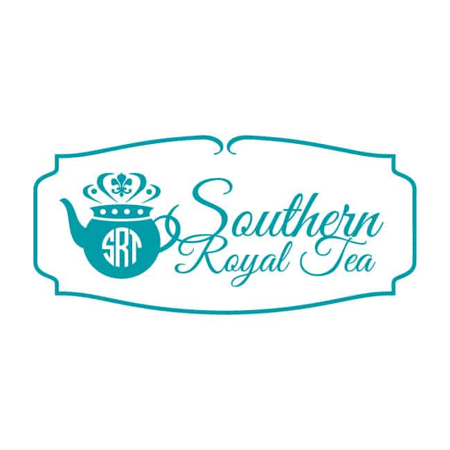 restaurant logo design southern royal tea