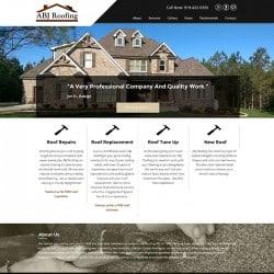 ABJ Roofing Website Design