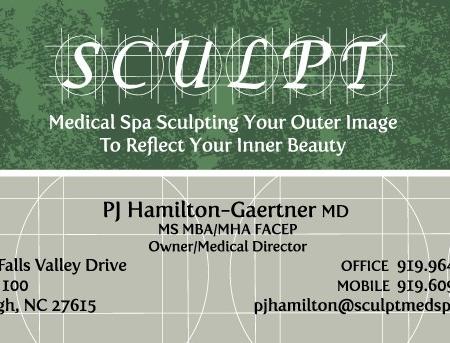 Sculpt MedSpa Business Card Design
