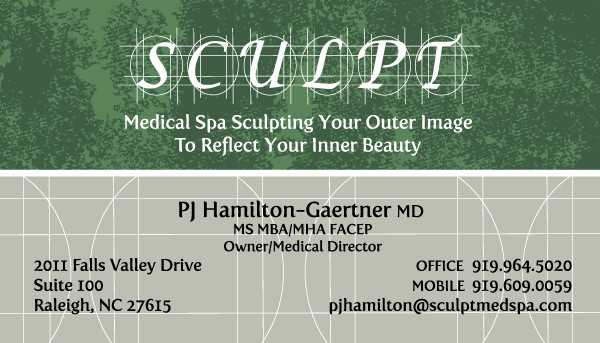 Sculpt MedSpa Business Card Design