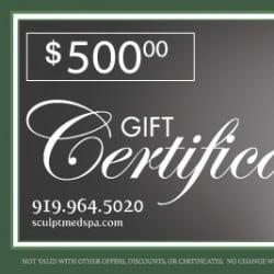 MedSpa Gift Certificate Design