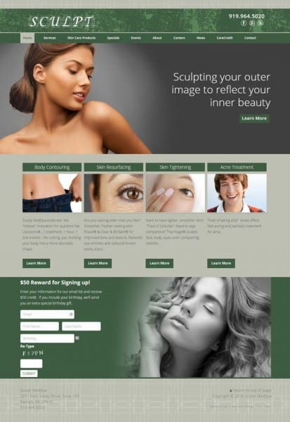 Sculpt Medspa Web Design & Development