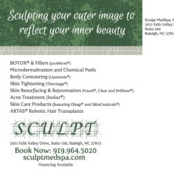 Sculpt MedSpa Postcard Designs