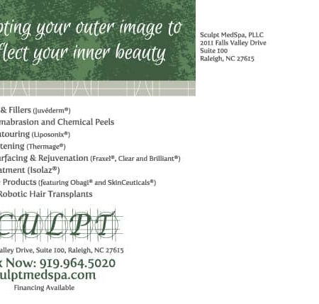 Sculpt MedSpa Postcard Designs