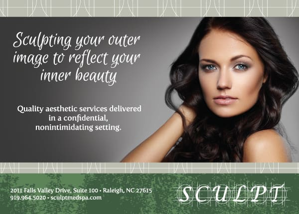 Sculpt MedSpa Postcard Design