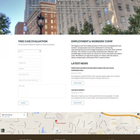 Segnere Law Firm Web Design