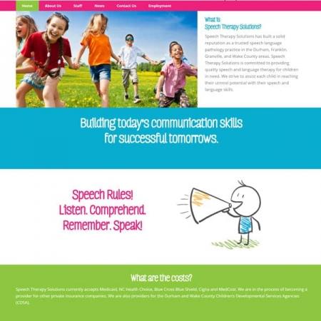 Speech Therapy Solutions Website Design & Development