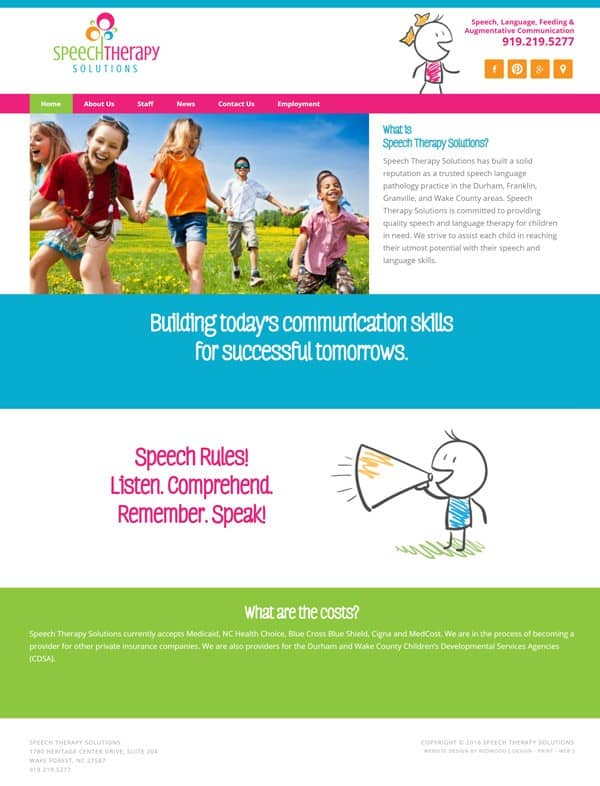 Speech Therapy Solutions Website Design & Development