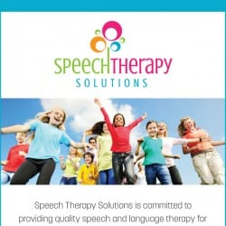 Speech Therapy Solutions Advertisement Design