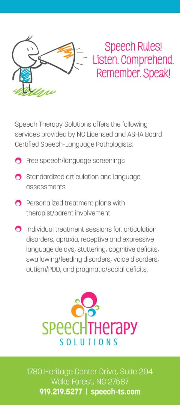 Speech Therapy Solutions Post Card Design Back