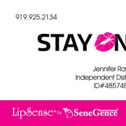 Stay On Lips Business Card Design Front