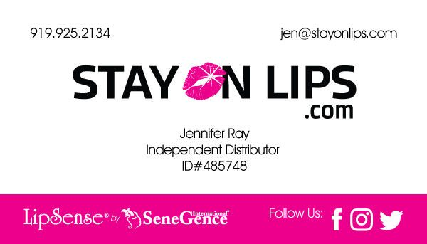 Stay On Lips Cosmetics Business Card Design Front