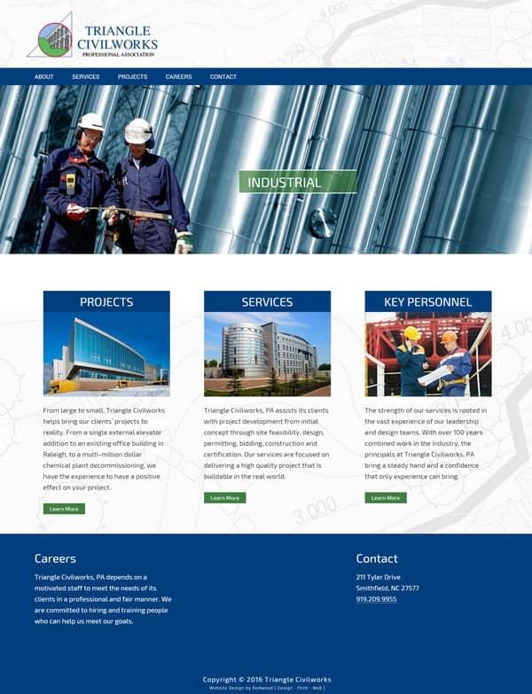 Triangle Civilworks Website Design