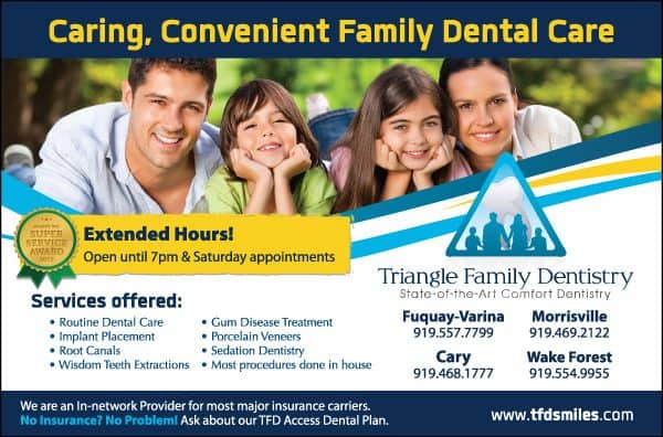 Triangle Family Dentistry Ad Design