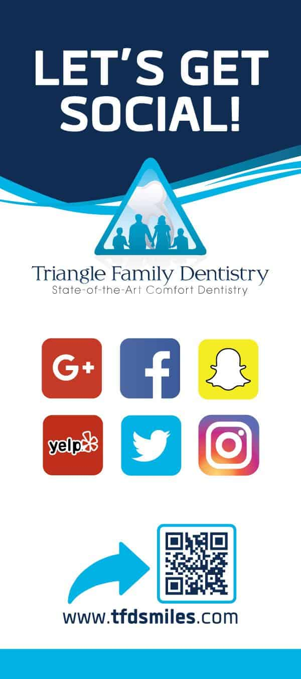 Triangle Family Dentistry Dental Practice Rack Card Design