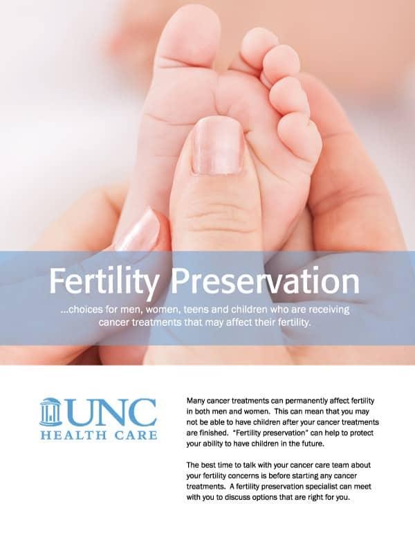 UNC Fertility Brochure Design