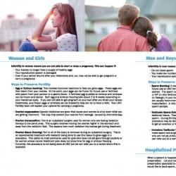 UNC Health Care Fertility Brochure Designs
