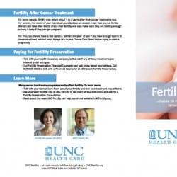 UNC Fertility Heath Care Brochure Design