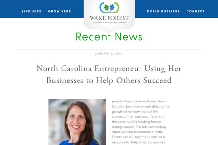 Wake Forest News Story